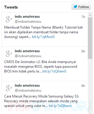 Memasang Tweet Twitter di Blog/ Website 1