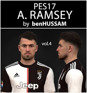 PES 2017 Faces Aaron Ramsey by BenHussam