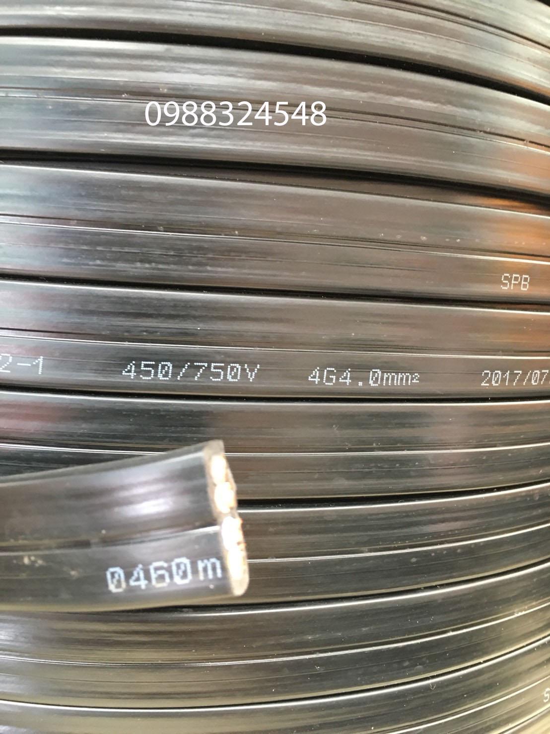 Cáp điện dẹt 4C x 4mm2