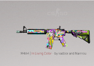 M4A4 | In Living Color Covert Skin.
