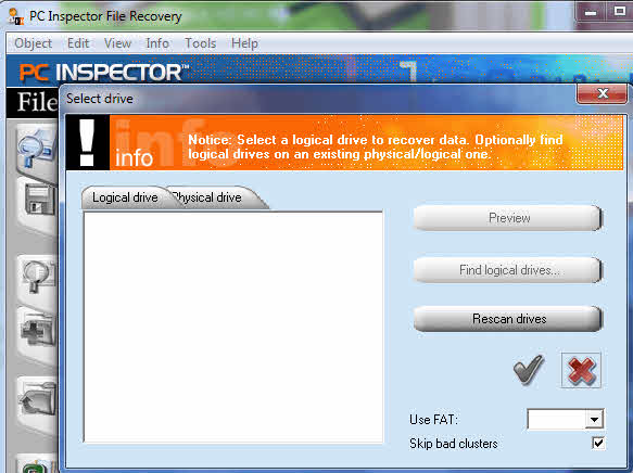 برنامج PC Inspector File Recovery