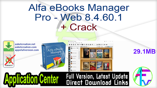 Alfa eBooks Manager Pro – Web 8.4.60.1 + Crack