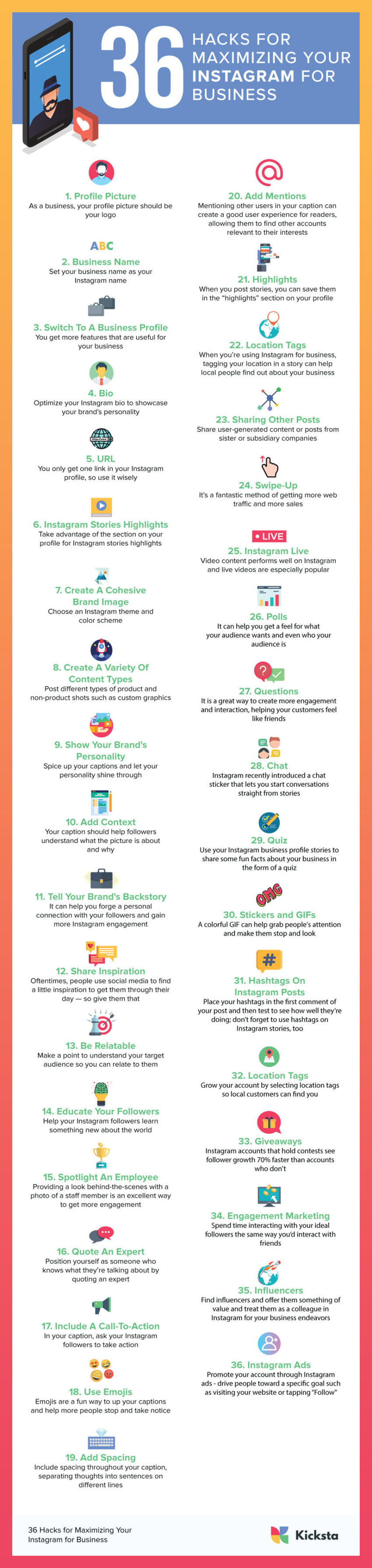 36 Instagram Hacks To Elevate Your Business In 2021 #infographic #Instagram Hacks #infographics #Instagram #Business #Business In 2021