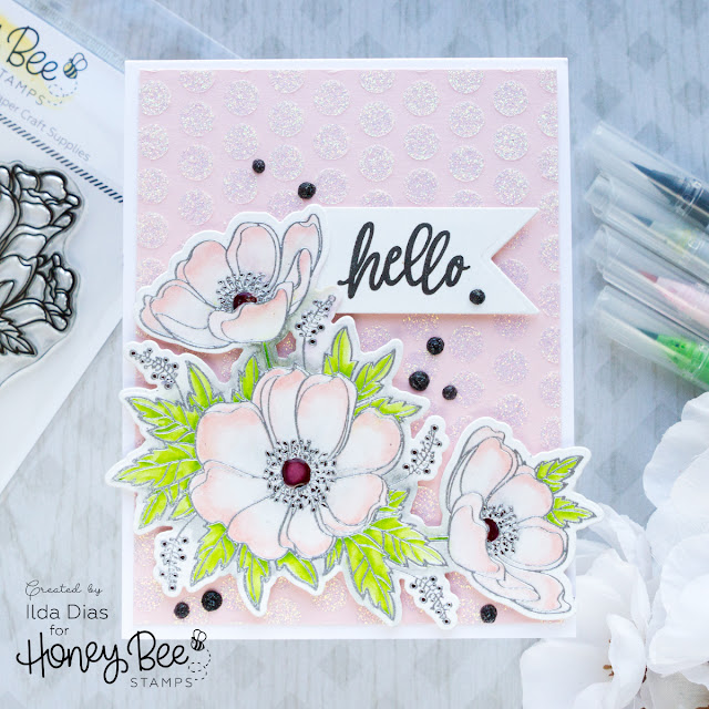 Honey Bee Stamps Deerly Loved Release Bee Inspired Week | Winter Anemones by ilovedoingallthingscrafty.com
