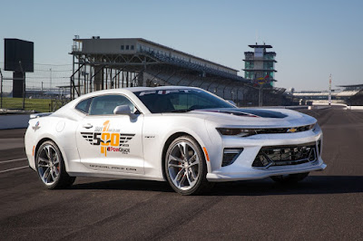 Chevrolet Will Feature the 50th Anniversary Camaro SS Edition at the Indy 500