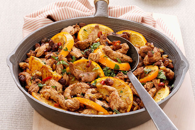 Moroccan-Style Turkey Skillet