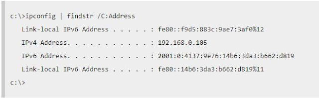 Find IP address from CMD