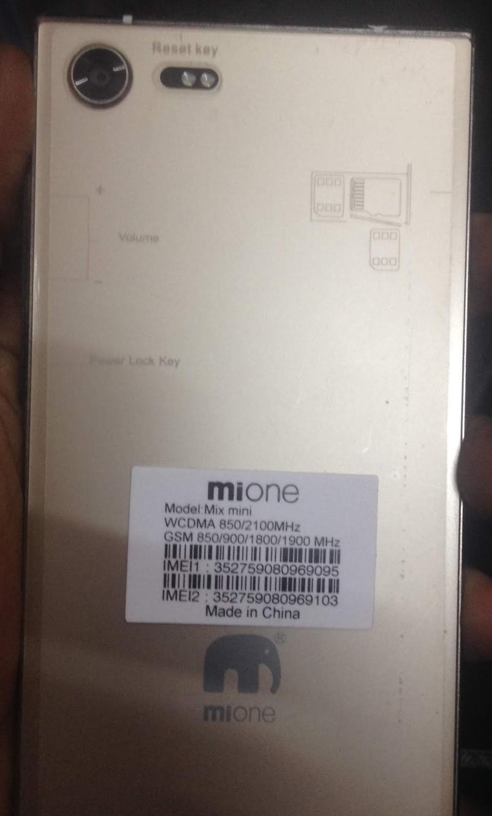 Mione Mix Mini Flash File MT6580 Abut 7 0 Hang Logo & Dead