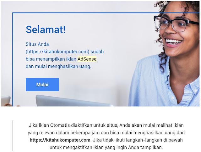 pengalamanku mendapatkan google adsense