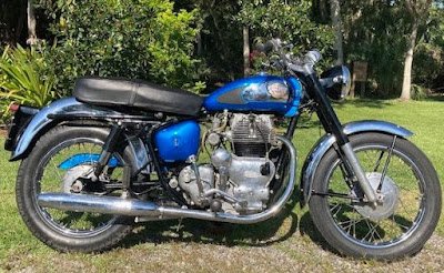 Right side of 1964 Royal Enfield Interceptor.