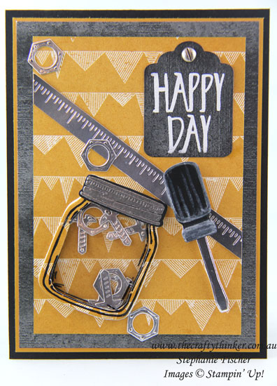 www.thecraftythinker.com.au, Masculine card, Shaker Card, Urban Underground, Jar of Love, #thecraftythinker, Stampin Up Australia Demonstrator, Stephanie Fischer, Sydney NSW