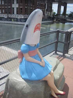 Part Shark, Part Girl, All Fun.