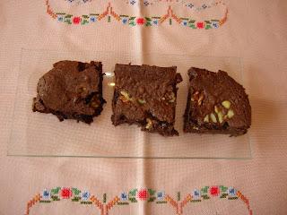 Vista cenital brownie americano
