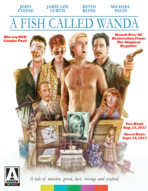 Arrow Video Readies 4K Restoration Of A Fish Called Wanda For Blu-ray/DVD Combo Pack Release On Sept. 19