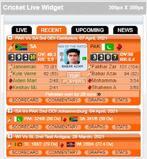 Live Widget HTML Code