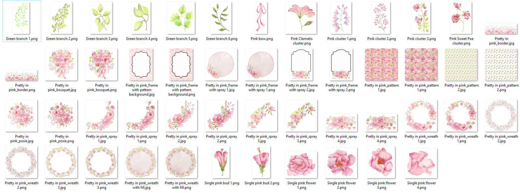 Free download, high quality premium png files, beautiful bank color flower decorations
