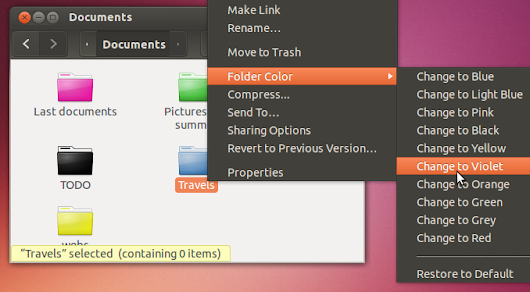 """Folder Color"" app: Change the color of your folders in Ubuntu in a really easy way"