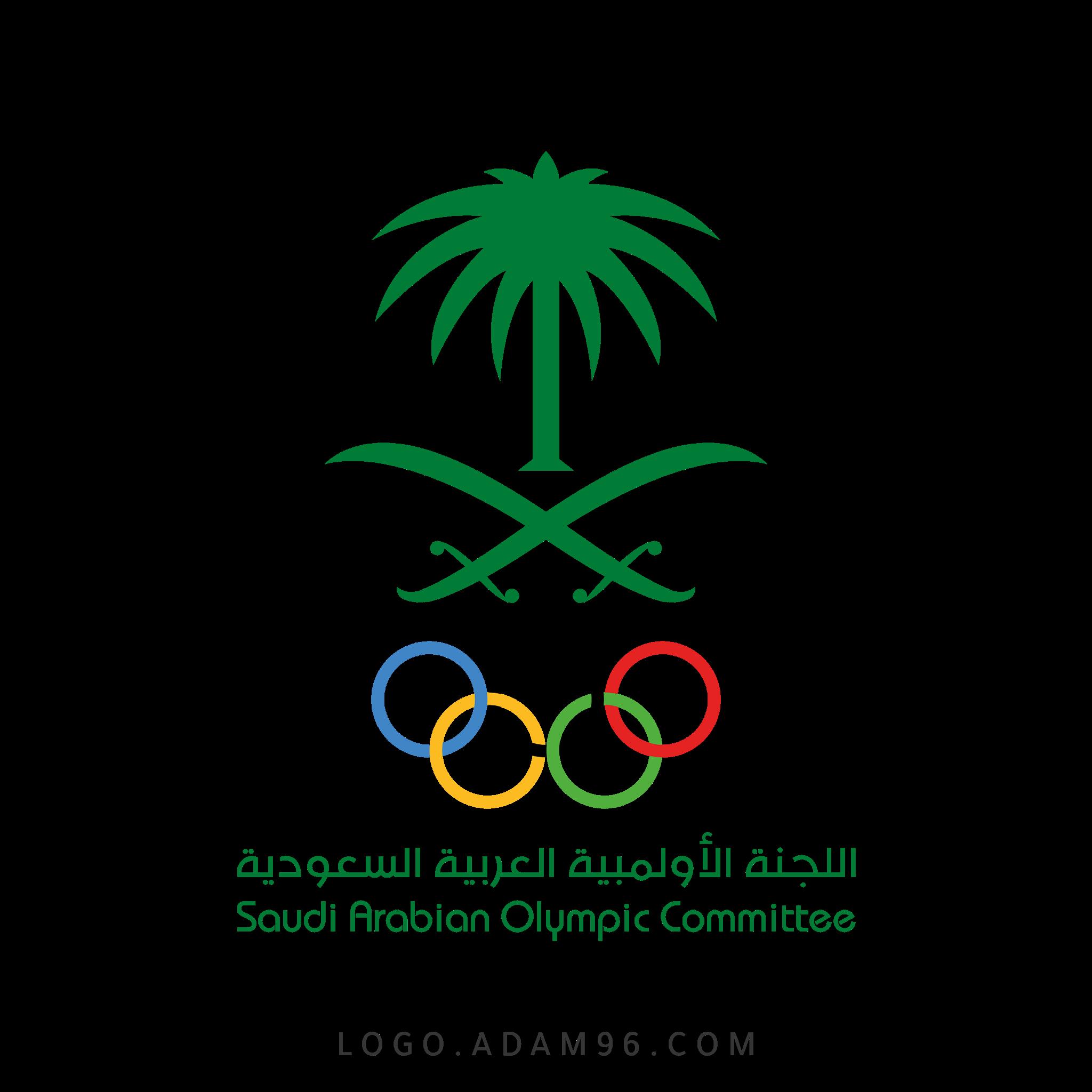 تحميل شعار اللجنة الأولمبية العربية السعودية لوجو رسمي عالي الجودة PNG