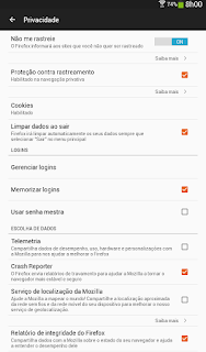 FireFox no dispositivo movel