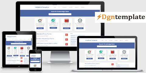 HelpDesk Free Responsive Blogger Template-dgntemplate