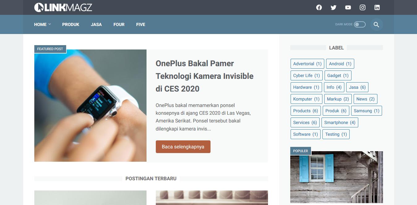 Download Template Blogger LinkMagz Gratis