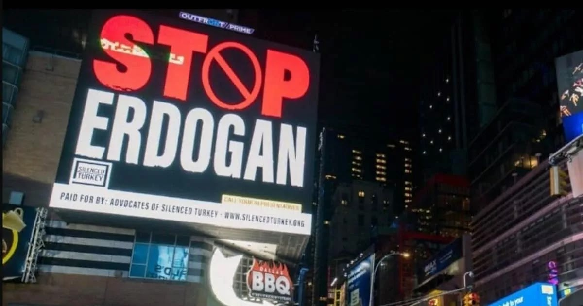 'Stop Erdogan' Billboard Appears In New York Times Square