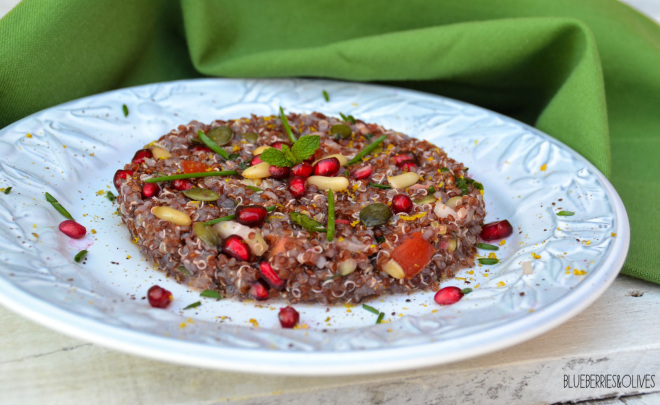 QUINOA AND POMEGRANATE TABBOULEH
