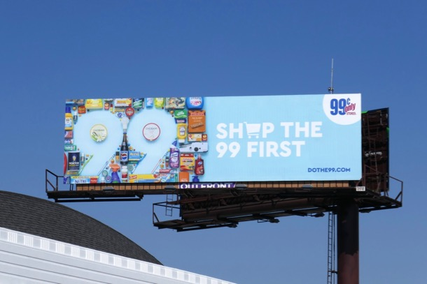 Shop the 99c first billboard