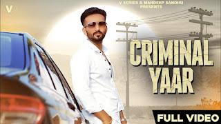 Criminal Yaar Lyrics