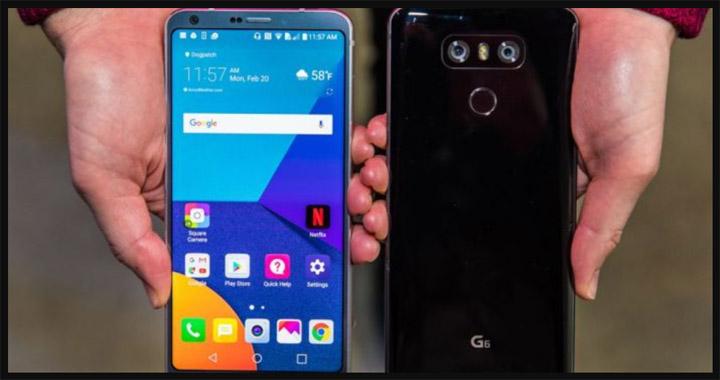 LG G6 hp Android tanpa bezel