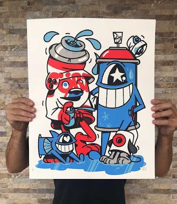 """Street Friends"" Art Print by El Pez x Flying Fortress"