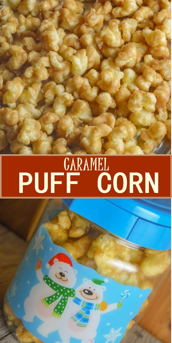 CARAMEL PUFF CORN #Breakfastideas