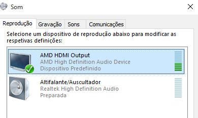 HDMI sem som áudio