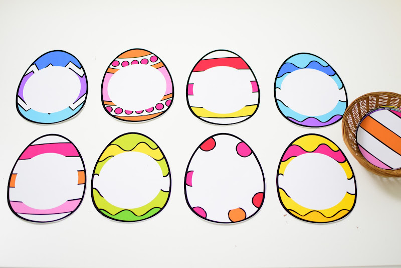 Easter Theme Unit: Easter Egg Pattern Match