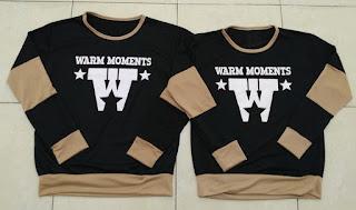 Jual Online Sweater Warm Black Mocha Couple Murah Jakarta Bahan Babytery Terbaru