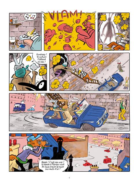 """Une aventure de Arsène Lupin """"cash-cash à Panam"""" aux éditions """"Des ronds dans l'O"""" page 4"""