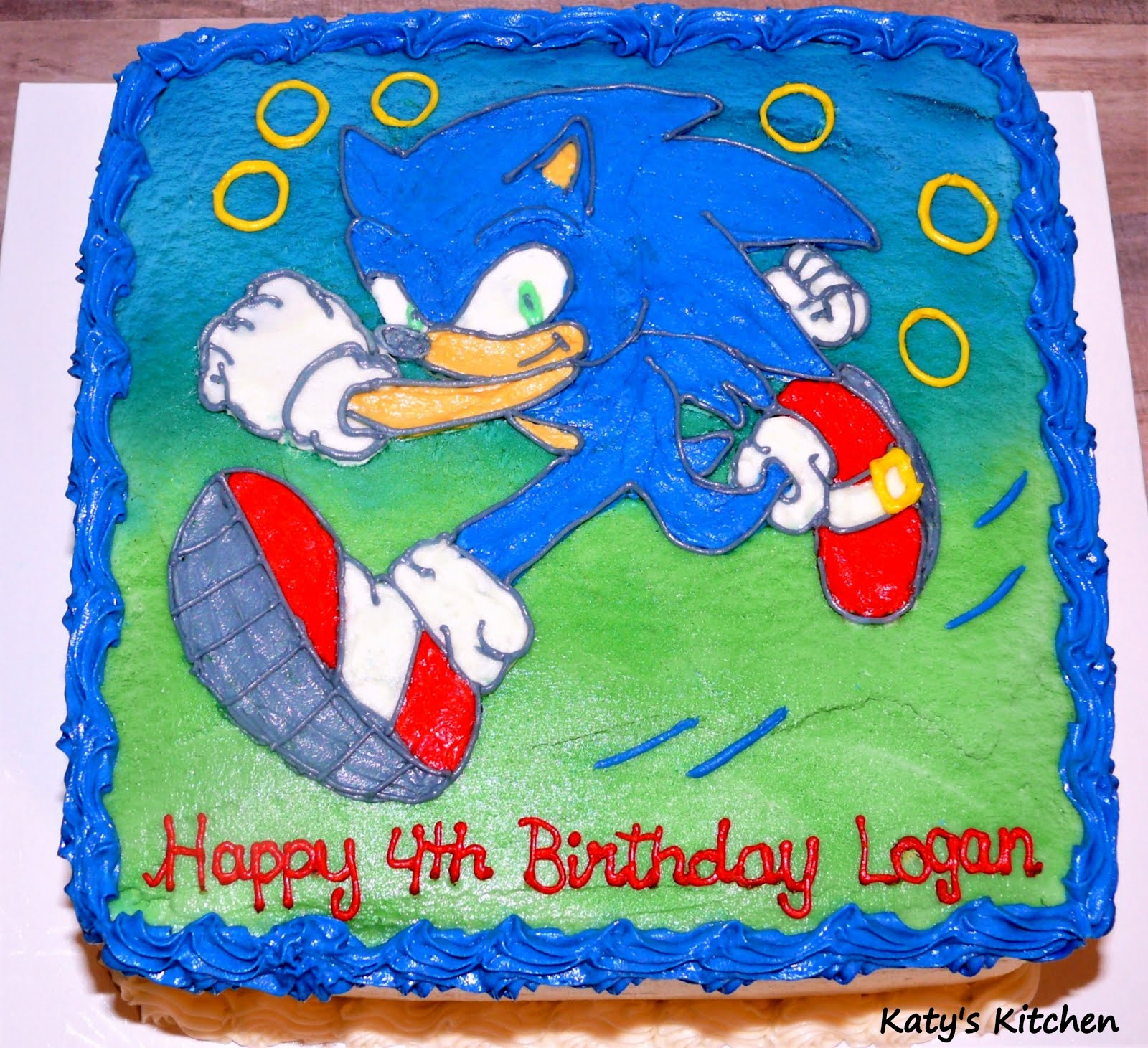 Katy S Kitchen Sonic The Hedgehog Cake