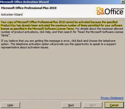 grafchoiod - Ms office 2010 activation error 0x80080015