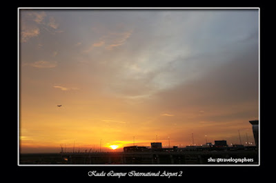 Air Asia, Kuala Lumpur International Airport 2, KLIA 2, Sunset at Airport, Senja di Bandara, Dawn