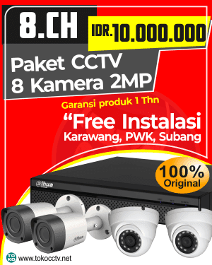 PAKET CCTV 8 KAMERA + INSTALASI | GARANSI PRODUK 1 TAHUN