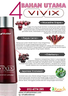 ingredients dalam vivix