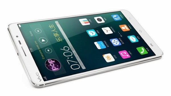 Vivo X5Max Specifications - LAUNCH Announced 2014, December DISPLAY Type Type Super AMOLED capacitive touchscreen, 16M colors Size 5.5 inches (~69.5% screen-to-body ratio) Resolution 1080 x 1920 pixels (~401 ppi pixel density) Multitouch Yes BODY Dimensions 153.9 x 78 x 5.1 mm (6.06 x 3.07 x 0.20 in) Weight 156 g (5.50 oz) SIM Dual SIM (Nano-SIM/ Micro-SIM) PLATFORM OS Android OS, v4.4.4 (KitKat) CPU Quad-core 1.7 GHz Cortex-A53 & quad-core 1.0 GHz Cortex-A53 Chipset Qualcomm MSM8939 Snapdragon 615 GPU Adreno 405 MEMORY Card slot microSD, up to 128 GB (uses SIM 2 slot) Internal 16 GB, 2 GB RAM CAMERA Primary 13 MP, f/2.0, autofocus, LED flash Secondary 5 MP, f/2.4 Features Geo-tagging, touch focus, face detection, panorama, HDR Video 1080p@30fps NETWORK Technology GSM / HSPA / LTE 2G bands GSM 850 / 900 / 1800 / 1900 - SIM 1 & SIM 2 3G bands HSDPA 850 / 1900 / 2100 4G bands LTE 1800 / 2100 / 2600 TD-LTE 2300 Speed HSPA, LTE GPRS Yes EDGE Yes COMMS WLAN COMMS WLAN Wi-Fi 802.11 a/b/g/n, dual-band, Wi-Fi Direct, hotspot NFC Yes GPS Yes, with A-GPS USB microUSB v2.0, USB Host Radio  Bluetooth v4.0 FEATURES Sensors Sensors Accelerometer, gyro, proximity, compass Messaging Messaging SMS (threaded view), MMS, Email, Push Email Browser HTML5 Java No SOUND Alert types Vibration; MP3, WAV ringtones Loudspeaker Yes 3.5mm jack Yes   - Hi-Fi 2.0 BATTERY  Non-removable Li-Po 2300 mAh battery Stand-by  Talk time  Music play Non-removable Li-Po 2300 mAh battery Stand-by  Talk time  MISC Colors White MISC Colors White  - Funtouch OS 2.0 - Active noise cancellation with dedicated mic - MP4/WMV/H.264 player - MP3/WAV/WMA/eAAC+/FLAC player - Document viewer - Photo/video editor