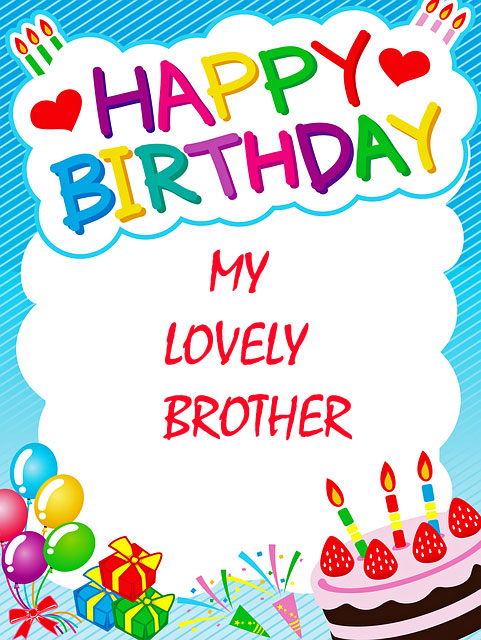happy birthday to brother images
