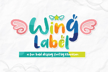 font Wing Label
