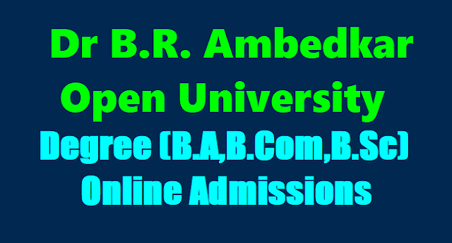 BRAOU Degree UG Admissions,BA,BCom,BSc Admissions,BRAOU UG Admissions