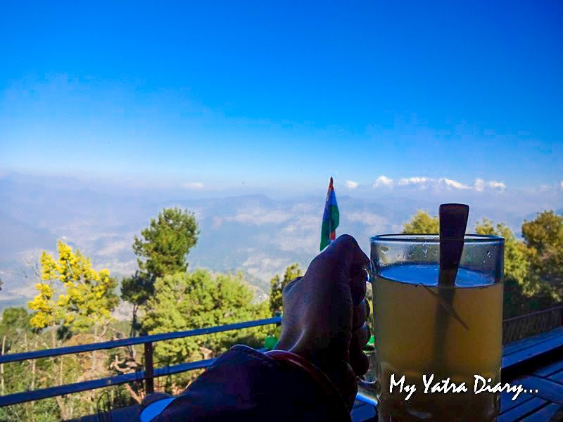 Breakfast with a view at Alhito cafe, Kasar Devi Uttarakhand