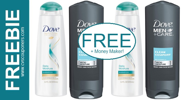 FREE Dove Shampoo & Body Wash CVS Deals