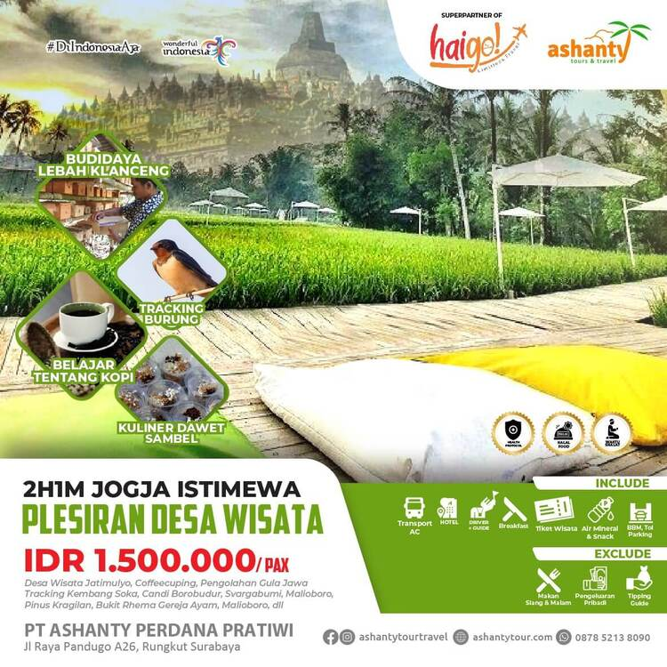 tour dan travel surabaya jogja, paket wisata jogja start surabaya