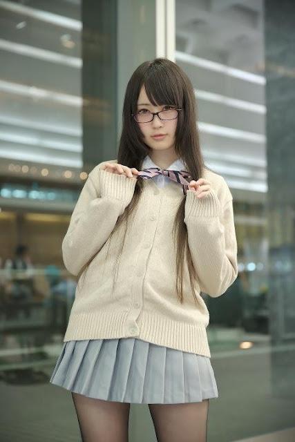 御伽ねこむ Nekomu Otogi School Girl Images 04
