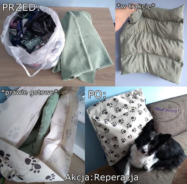 Akcja Reperacja u Adzika - DIY legowisko dla psa z resztek materiałów